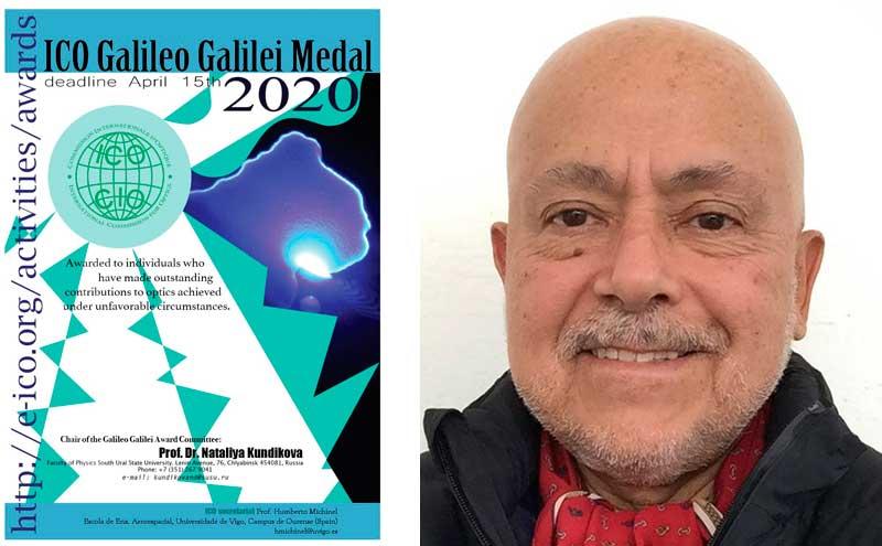 Jorge Ojeda-Castañeda de la Universidad de Guanajuato, México, Premio ICO Galileo Galilei 2020