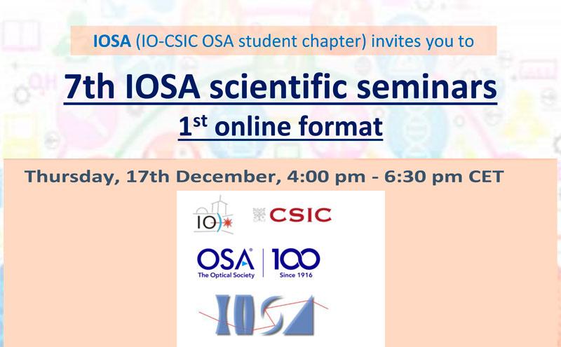 7th Edition of IOSA Scientific Seminars