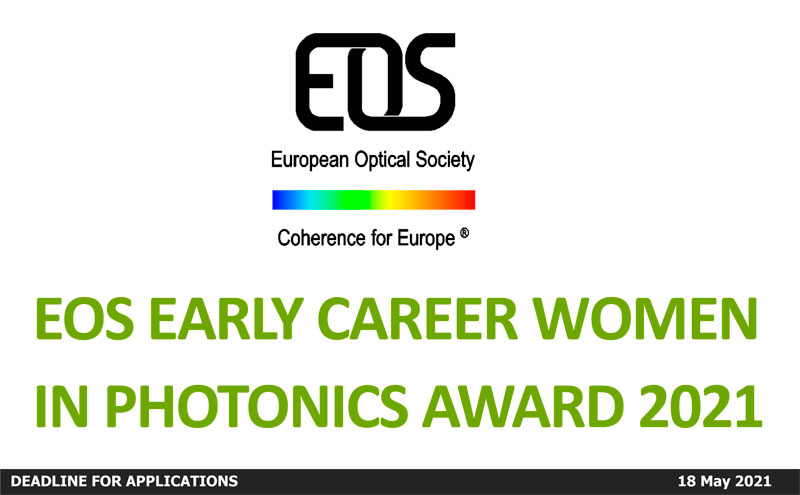 EOS Early Career Women in Photonics Award 2021
