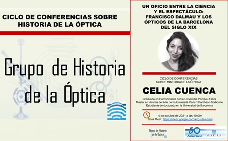 Ciclo de Conferencias sobre Historia de la Óptica - Un óptico entre la ciencia y el espectáculo: Francisco Dalmau y los ópticos de la Barcelona del siglo XIX